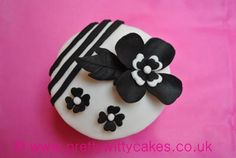 beautiful black and white cupcake