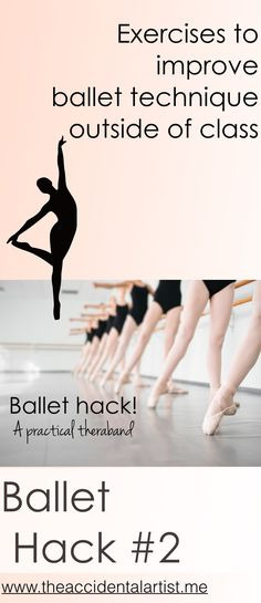A hack for ballet with a theraband! Make it convenient by making a smaller one. Foot exercises will help your tendu and much more! Practical exercises with a small theraband.