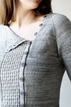 Ravelry: Tau pattern by Melanie Berg knit top down in Fingering 4 ply. Sweater Knitting Patterns, Cardigan Pattern, Crochet Cardigan, Knitting Socks, Top Pattern, Knitting Stitches, Knit Patterns, Knit Crochet, Fall Knitting