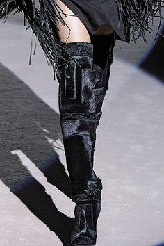 Tom Ford Pony Hair Knee High Boots! Fall Fashion!