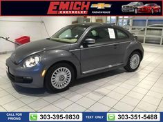 2013 Volkswagen Beetle 2.5L 14k miles $14,999 14677 miles 303-395-9830  #Volkswagen #Beetle #used #cars #EmichChevrolet #Denver #CO #tapcars