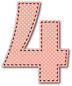 4 NÚMERO Monogram Alphabet, Alphabet And Numbers, Boy Cards, Kids Cards, Cartoon Elephant, Numbers For Kids, Printable Numbers, Birthday Numbers, Preschool Crafts