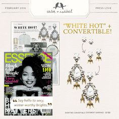 """Check out our """"white hot"""" jewelry shout-out in Essence Magazine!"""
