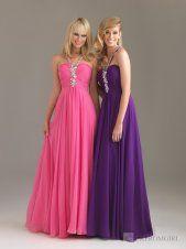 A-line Halter Crystal Long Pink Dress