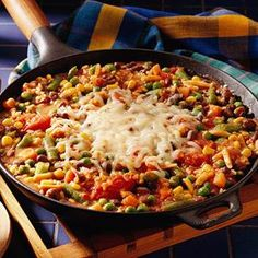Vegetarian: Hearty Rice Skillet