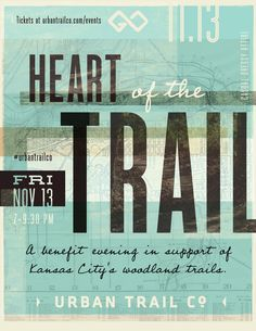 Heart of the Trail Poster   Urban Trail Co.   Kansas City Trails