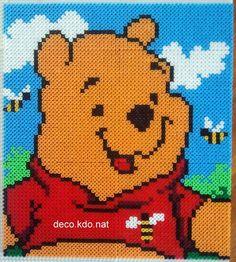 Winnie the Pooh portrait hama perler beads (33 x 29.5 cm) by Deco.Kdo.Nat