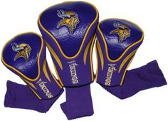 NFL Minnesota Vikings 3 Pack Contour Fit Headcover * You can find out more details at the link of the image.