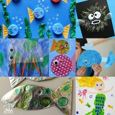 UNDER THE SEA http://www.craftykidsathome.com/2016/02/under-the-sea-arts-crafts-for-kids.html