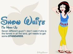 Snow White funny comparison via www.Facebook.com/DisneylandForMisfits
