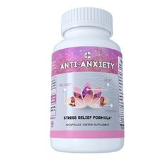 """Anti Anxiety & Stress Relief Formula offers support that keeps you calm, positive and relaxed – bringing your mind and body in a peaceful state. Sometimes work, home, crowds, and people in general can be overwhelming."""