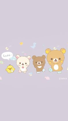 Rilakkuma Wallpaper, Kawaii Wallpaper, Cartoon Wallpaper, Iphone Wallpaper, Old Cartoons, Sanrio Characters, Cardcaptor Sakura, Sailor Moon, Hello Kitty