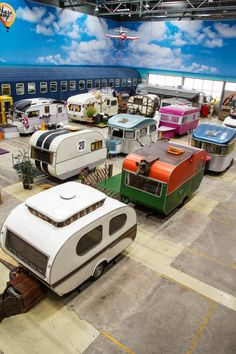 By using an empty warehouse in Germany, Michael Schloesser collected vintage campers and turned them into a hostel called Base camp Bonn. It is set up like a campground and you can rent them out. Each has a different decor and theme. basecamp-bonn-youth-hostel