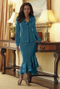 Tiered Ruffle Skirt Suit from Midnight Velvet®  www.midnightvelvet.com  Confident Style. Beautiful You.