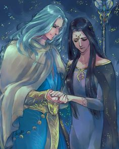 """nurantarenendurath: """" Because of Valentines Day here are Varda and Manwe """""""