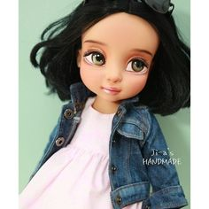Jasmine disney animator doll creation by jia_n_doll. Eyes look recarved -- Jasmines factory eyes tilt up more at the outer corners.