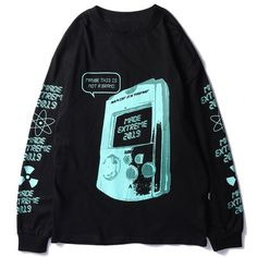 Made Extreme Gamer Long Sleeve Tee - Clout Collection Grunge Look, Grunge Style, 90s Grunge, Grunge Outfits, Cool Outfits, Fashion Outfits, Mein Style, Apparel Design, Aesthetic Clothes