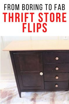 If you're decorating on a budget then you'll love these creative and cheap inspiration dresser makeovers. Perfect for your entryway, bedroom and living room decor. #diy #furnituremakeover #fleamarketflips Thrift Store Furniture, Upcycled Furniture, Diy Furniture, Dresser Makeovers, Furniture Makeover, Kitchen Cabinets And Countertops, Furniture Painting Techniques, Diy Home Decor Projects, Decorating On A Budget