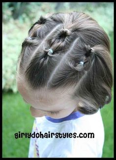Knotted Hairstyle for Shorter Hair | 37 Creative Hairstyle Ideas For Little Girls. I can't wait to do this style on my daughter's hair.