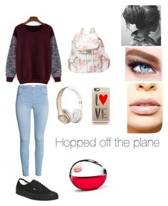 """""""1"""" by chloe-ashforth ❤ liked on Polyvore featuring Vans, LeSportsac, LASplash, Maybelline, Beats by Dr. Dre, Casetify, DKNY, women's clothing, women and female"""