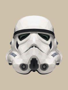Geometric Stormtrooper helmet  https://www.domestika.org/es/projects/334736-geometric-stormtrooper-helmet