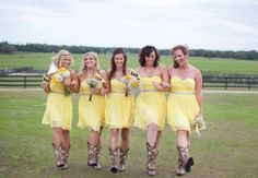 Yellow Bridesmaid Dresses // Photo: Roohi Photography // Event Planner: Alchemy Hour Designs // Venue: Barrington Hill