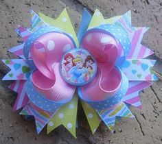 Disney Princess Custom Boutique Hair Bow for Disney World Vacation