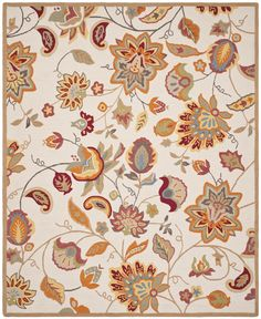 Safavieh Four Seasons Country & Floral Kids Indoor/Outdoorarea Rug Ivory / Yellow