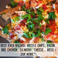 Best BBQ Chicken Nachos EVER via Being Cheap is Easy