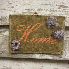 Home Burlap Wall-Hanging by HippyandPreppy on Etsy