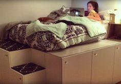 Bygg din egen seng av kjøkkenskap fra Ikea - viivilla.no