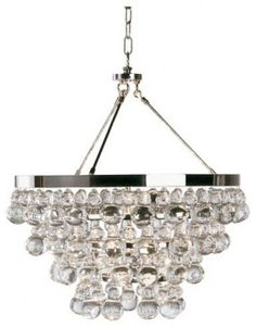 """Bling Chandelier by  Robert Abbey -$869.00  Polished Nickel Z1000 - Deep Patina Bronze Material(s): glass, steel  Dimensions: 20.5""""Dia X 22""""H 25.25""""Min Drop - 61.25""""Max Drop Lamp"""