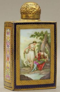 ROYAL VIENNA PAINTED PERFUME BOTTLE circa late 19 by cristina