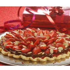 Strawberry Almond Chocolate Tart