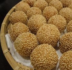 Deep fried Mochi Style Sesame Balls