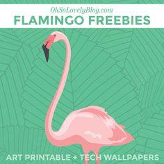 Flamingo Kunst zum Ausdrucken und an die Wand hängen - sommerlich frisch und schön *** Free Flamingo Art Printable Tech Wallpapers