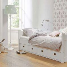 Vintage Kojenbett Kinderbett ANNA mit Schubladen Massivholz wei xcm g nstig online