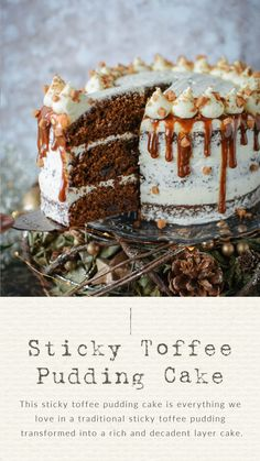 Sticky Toffee Pudding Cake - Katie Cakes Recipes - - This sticky toffee pudding cake is everything we love in a traditional sticky toffee pudding transformed into a rich and decadent layer cake. English Dessert Recipes, Sweet Recipes, Cake Recipes, Muffin Recipes, Sticky Toffee Pudding Cake, Sticky Toffee Cupcakes, Biscuits, British Desserts, Decadent Cakes