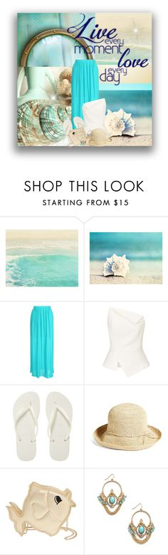 """""""Live Every Moment, Love Every Day ❤️"""" by rainbowroad96 ❤ liked on Polyvore featuring WALL, Jane Norman, Roland Mouret, Havaianas, Helen Kaminski and Nila Anthony"""