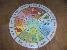 """Legekreis """"The year"""" in German Now this year circle is finished. I have the pictures in contrast to the English annual circle e … Primary School, Pre School, Elementary Schools, Educational Activities, Learning Activities, Kids Learning, Montessori Education, Kids Education, Education Quotes"""