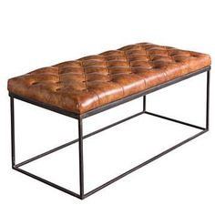 Shop modern furniture and home décor for every room in your home, ranging in style from mid-century to industrial to bohemian and more. All up to 60% off. Leather Bench Seat, Leather Sofa, Brown Leather, Booth Seating, Lounge Seating, Extra Seating, Seating Plans, Tufted Bench, Upholstered Furniture