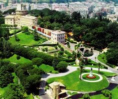 The Vatican Gardens have been a place of quiet and meditation for the popes since 1279.