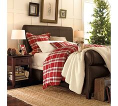 Winter bedding from Pottery Barn
