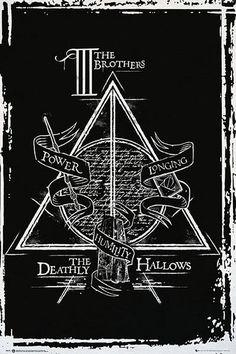 Póster Harry Potter: Las Reliquias de la Muerte, gráfico  Póster con la imagen de un gráfico basado en la saga de Harry Potter.