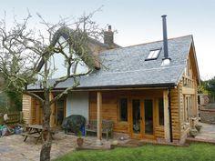 Trout Cottage House Extension | Western design Architects Cottage Extension, Oak Framed Buildings, Exterior Remodel, Cottage House, House Extensions, Architect Design, Trout, Sims 4, Cottages