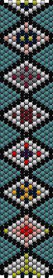 The Bead Guide: Bracelet Pattern: Diamond Design