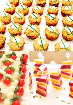 "Mini Party Foods! ""Sip N' See"" celebration instead of baby shower"