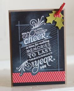 The genius that is @Betsy Veldman. Includes tutorial for how to create chalk board look on cards with ease.