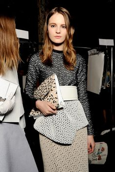 Proenza Schouler Fall 2013 Ready-to-Wear Collection casual hairstyles