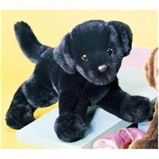 "Stuffed Plush Toy Dogs: Douglas 12"" Mini Floppy Brewster Black Lab Dog"